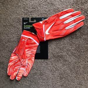 Nike Superbad Football Glove PGF873-844 Orange NEW